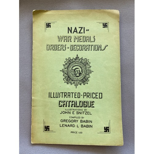 Nazi War Medals Orders Decorations by Babin # 7331