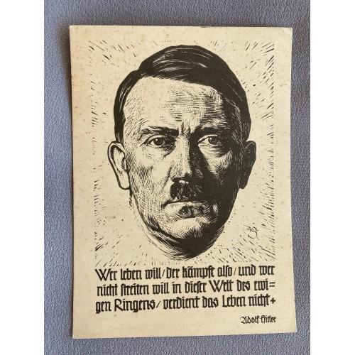 Hitler Postcard # 7381