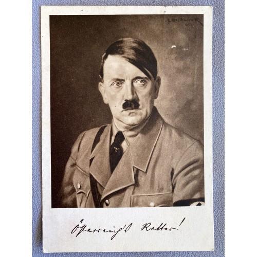 Adolf Hitler Postcard # 7384