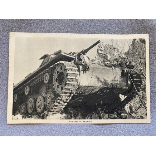 Panzer Im Angriff Postcard # 7439