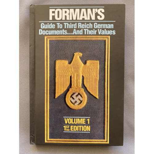 Forman's Guide to Third Reich German Documents and their Values # 7484
