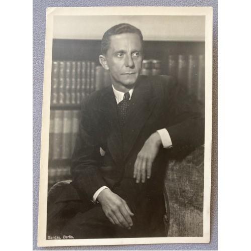 Dr. Joseph Goebbels Postcard # 7505
