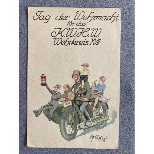 Tag der Wehrmacht für das K.W.H.W. Wehrkreis XVII Postcard # 7527