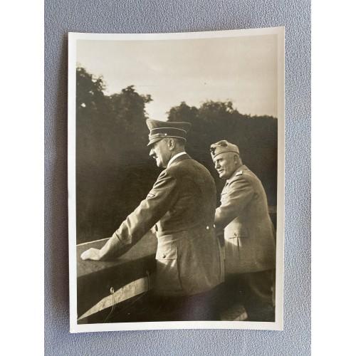 Mussolini Hitler Postcard # 7583