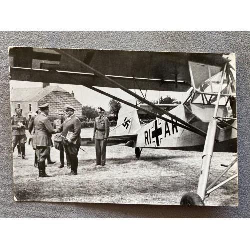 Hitler with Göring Postcard