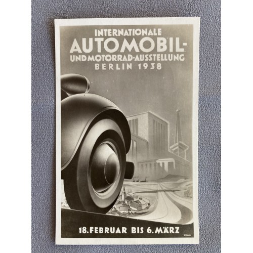 Internationale Automobil Berlin 1938 Postcard # 7626