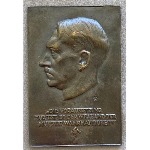 Adolf Hitler Plaque # 7651