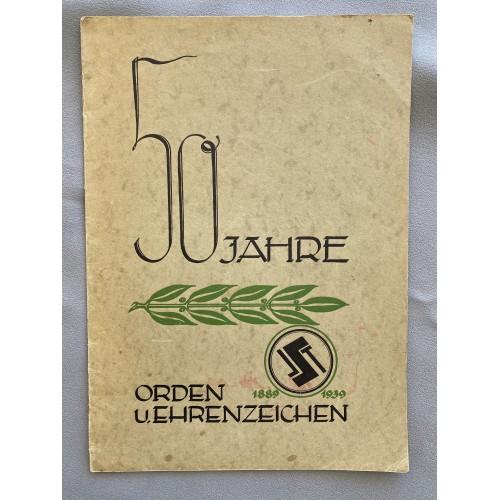 50 Jahre Orden u. Ehrenzeichen 1889- 1939 # 7696