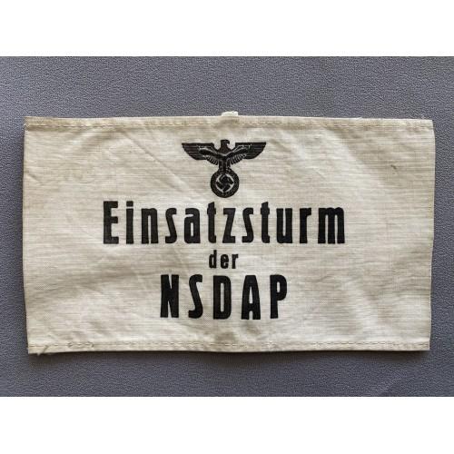 Einsatzsturm der NSDAP Armband # 7734