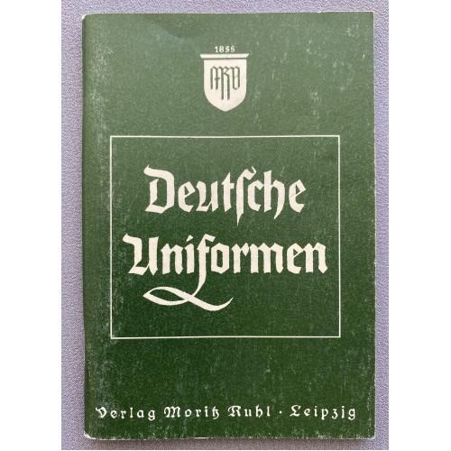 Deutsche Uniformen Verlag Moritz Ruhl Leipzig # 7754