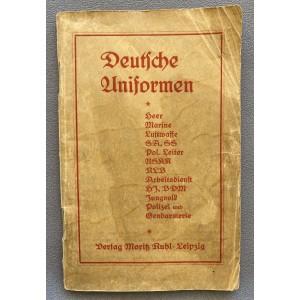 Deutsche Uniformen Verlag Moritz Ruhl Leipzig # 7757