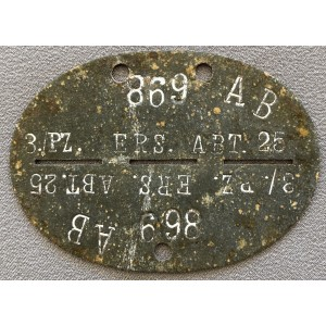 Panzer 3rd Panzer Division Replacement Company ID Disc # 7768