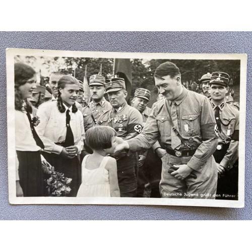 Deutsche Jugend grüßt den Führer Postcard # 7830