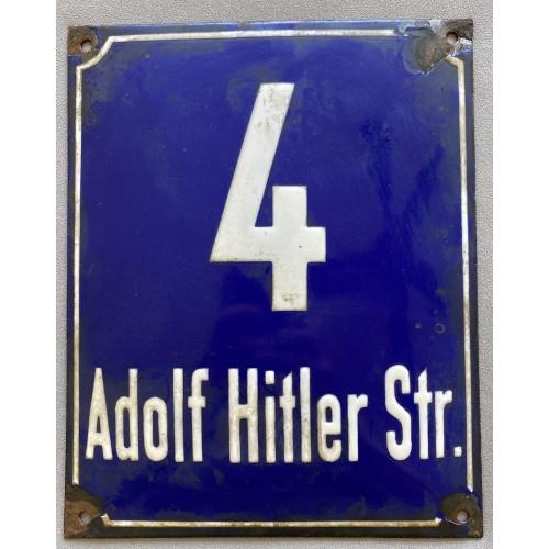 Adolf Hitler Str. 4 Sign # 7853