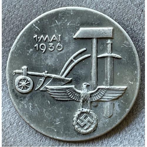 NSDAP Tag der Arbeit 1.Mai 1936 Badge