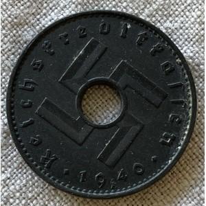 Reichskreditkassen 10 Pfennig 1940 A # 7870