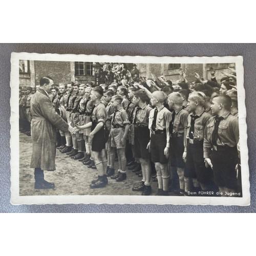 Dem Führer die Jugend Postcard # 7907