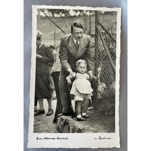 Hitler Ein kleiner besüch Postcard # 7914