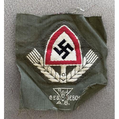 RAD Cloth Cap Badge  # 7946