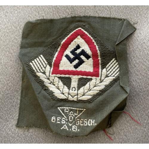 RAD Cloth Cap Badge # 7950