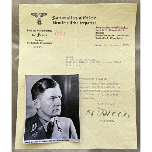 Wilhelm Bohle Signed Document # 7951