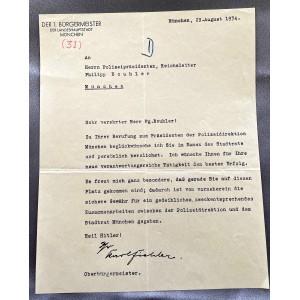 Karl Fiehler Sign Document # 7952