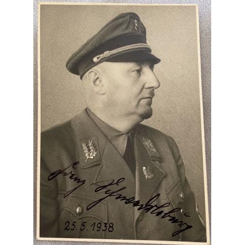 Gauleiter Franz Schwede-Coburg Signed Photo  # 7953