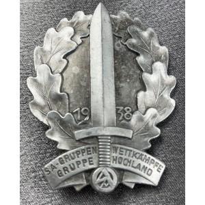 SA Gruppe Wettkämpfe Gruppe Hochland 1938 Tinnie # 7973