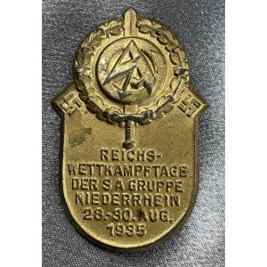 Reichswettkampftage der SA Gruppe Niederrhein 28.-30.Aug 1935 Tinnie # 7983