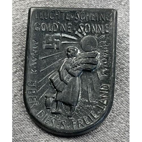 Leuchte Scheine Golde`ne Sonne über dieses freie Land 1940/41 Tinnie # 8001
