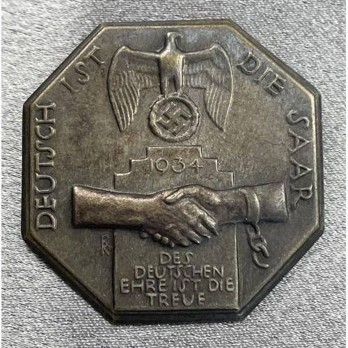 Deutsch Ist Die Saar 1934 Tinnie # 8010