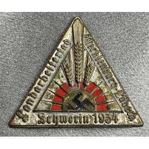 Landarbeitertag Mecklenburg-Lübeck Schwerin 1934 Tinnie # 8017