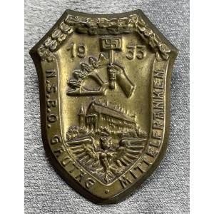 N.S.B.O. Gautag Mittelfranken 1933 Tinnie # 8019