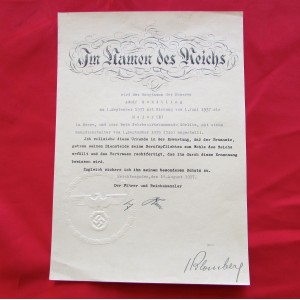 Hitler SIgned Document # 5107