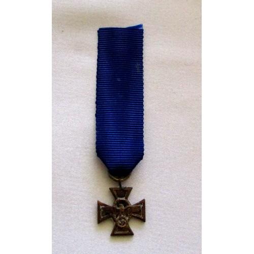 Police Long Service Award, miniature # 5218