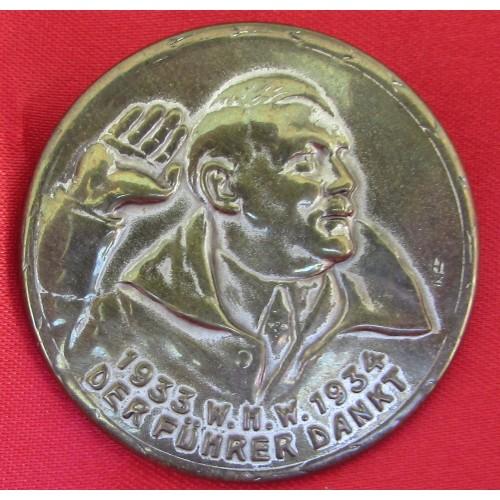 Hitler WHW Dankt Pin # 5229