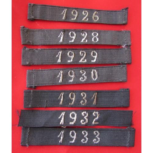 NSDAP Entry Year Ribbons # 5258
