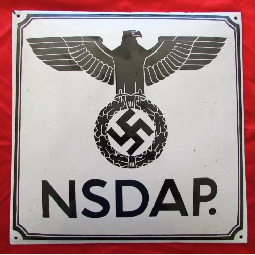 NSDAP Emailleschild # 5330