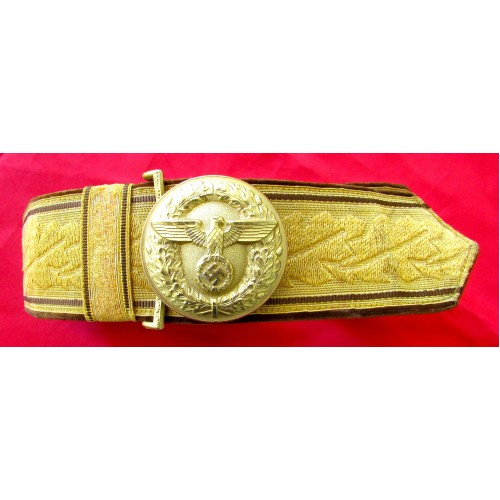 NSDAP Brocade Belt & Buckle    # 2471