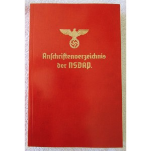 Anschriftenverzeichnis der NSDAP (Address Book of the Nazi Party) # 5324