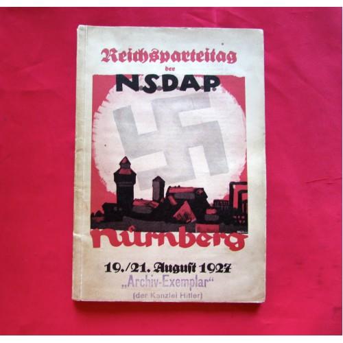 Reichsparteitag der N.S.D.A.P. Nürnberg 19./21. August 1927 Book # 5008