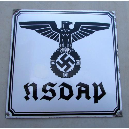 NSDAP Enamel Sign # 5009