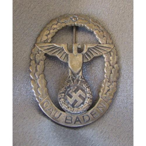 NSDAP Gau Baden Badge of Honor # 5021
