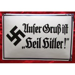 """""""Unser Gruss Ist Heil Hitler!"""" emailschild # 5076"""