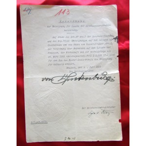 Hindenburg Document # 5087