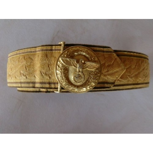 NSDAP Brocade belt and buckle # 1042