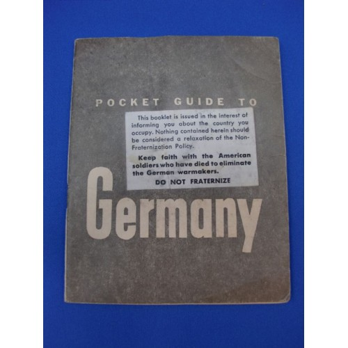 1944 US Armed Forces WW2 Pocket Guide to GERMANY # 1115