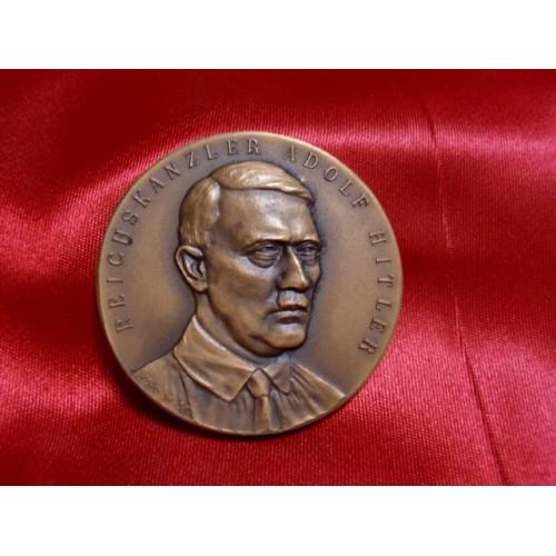 Hitler Hindenburg Medallion # 1185