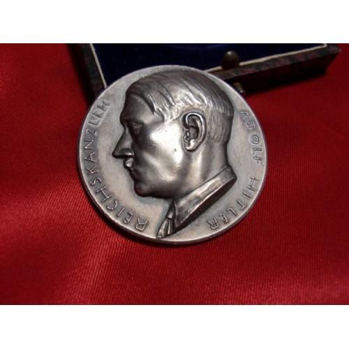 Hitler Medallion with Case # 1190