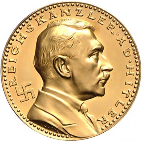 Adolf Hitler Medallion in GOLD  # 1203